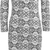 katara turtle neck floral print dress