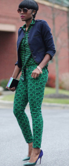green pants black pants pants vintage