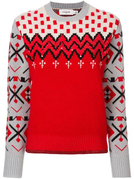 jumper women wool red sweater