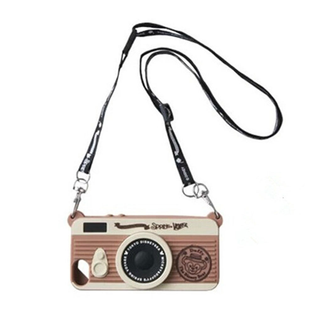 [grxjy51000061]Retro Camera Style Silicone Case with Strap for iPhone 5/5S