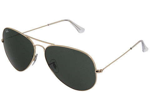 Ray-Ban 3025 Aviator 62mm  Gold/Brown - Zappos.com Free Shipping BOTH Ways