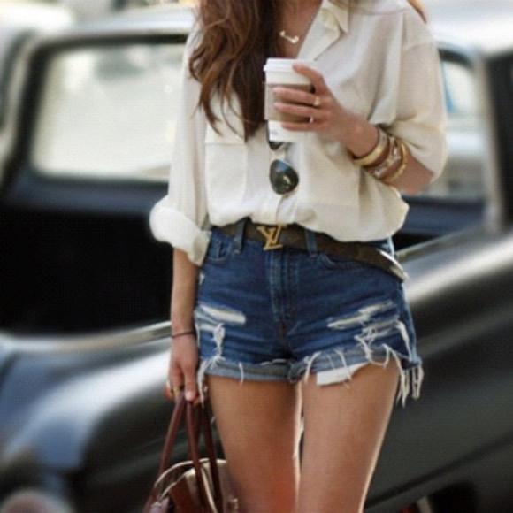 shorts blouse Belt jewels