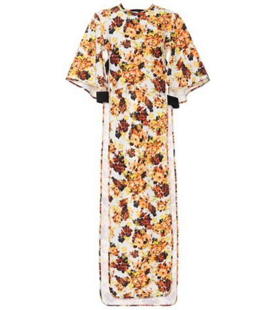 dress printed dress floral orange