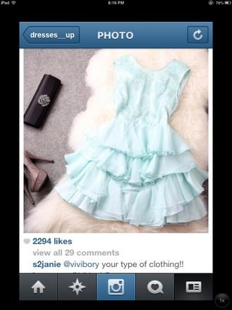 dress mint tiffany blue a line classy flare homecoming
