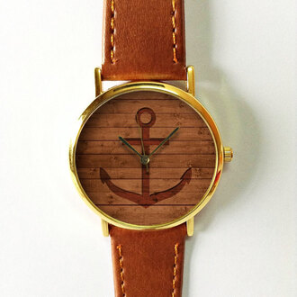 jewels watch handmade style fashion vintage etsy freeforme anchor wood anchor on wood summer spring new gift ideas