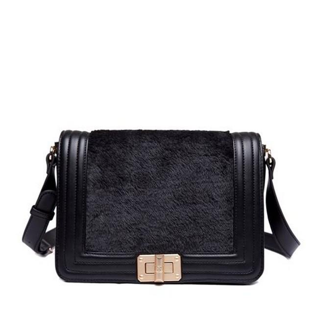 Graceful Montage Design Hasp Flap Fashion Shoulder Bags