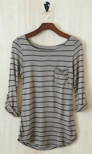 shirt stripes neutral grey grey
