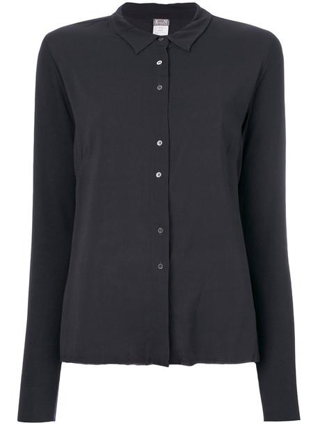 blouse women spandex silk grey top