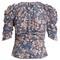 Brizo ruffle-trimmed floral-print stretch-silk top