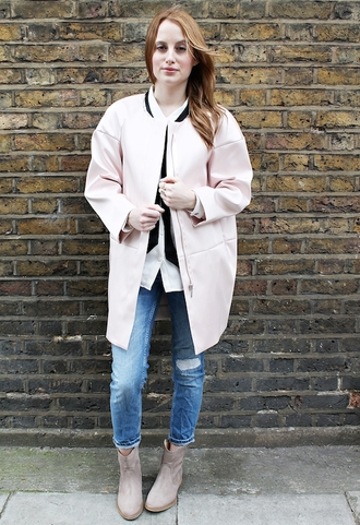 at fashion forte coat jeans shirt jewels shoes