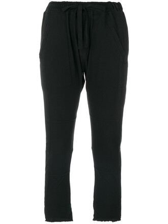 cropped women cotton black pants