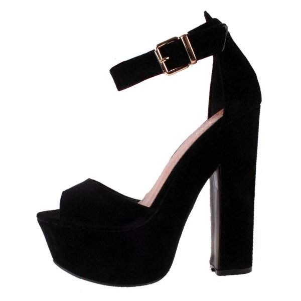 Block Heel Black