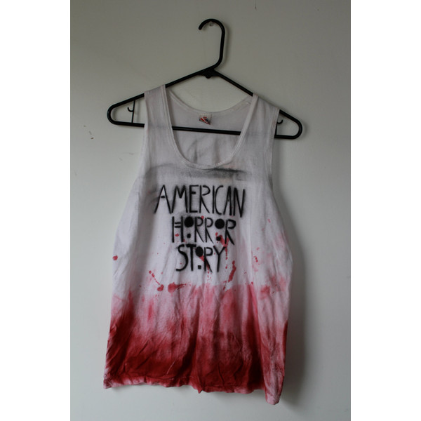 American Horror Story Dip Dyed Tank Top - Polyvore
