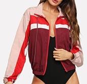 jacket,girly,girl,girly wishlist,windbreaker,hooded jacket,pink,red,white