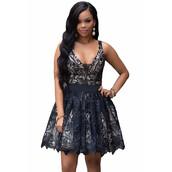 dress,black,black dress,lace dress,crochet,lace,black lace dress,tutu dress,skater dress,mini dress,deep v,deep v dress,plunge v neck,plunge dress,plunge neckline,sexy party dresses,party dress,evening dress,style,cute,cute dress,sleeveless,sleeveless dress,notched lace,prom dress,lace prom dress,sexy,sexy dress,moraki,little black dress,black lace prom dress,black sexy dress