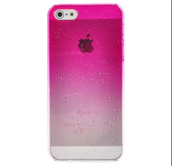 phone cover raindrops pink