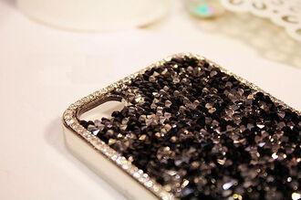 phone cover cover rhinestone rhinestones black