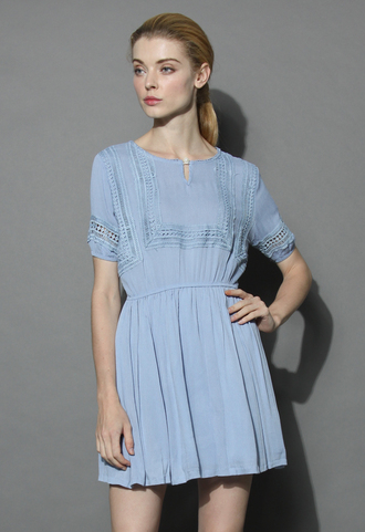 dress belle de boho dress in blue chicwish boho dress blue dress summer dress chicwish.com pastel blue dress
