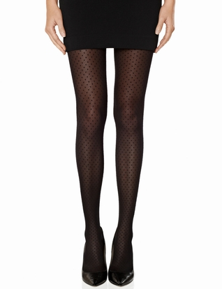Mini Dot Mesh Tights | Sheer Polka Dot Tights | THE LIMITED
