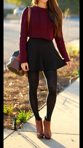 sweater fall outfits style burgundy comfy cute tumblr