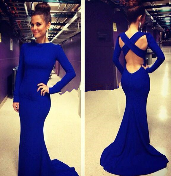 Meaning of blue dress long sleeve