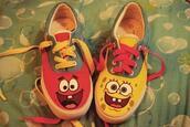 spongebob,shoes,chaussures,tennis,rose,jaune,patrick,bleu,bikini bottoms