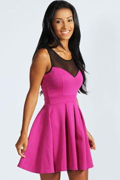 Cheryl Skater Dress at boohoo.com