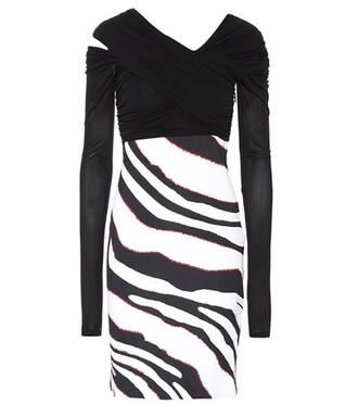 dress striped dress zebra black