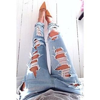 jeans blue cool women boyfriend jeans shoes