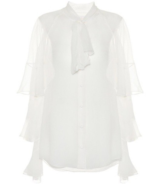 Chloe top silk white
