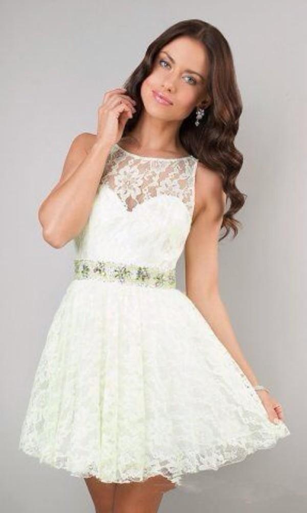 dress white lace dress elegant dress