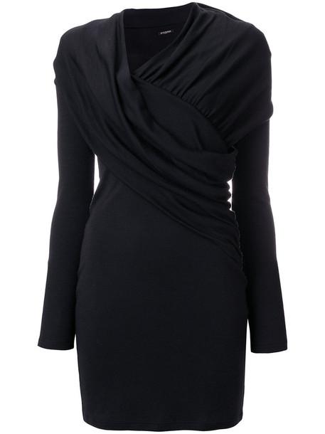 Balmain dress women black wool