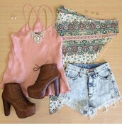 shoes,brown shoes,lovely,iloveit,shorts,blouse