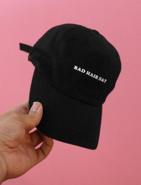 hat baseball cap black bad hair day cap bad hair girl cap bad hair day hat d28dfa4b55d