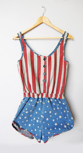 pants,american flag,jumpsuit,romper,denim,usa,shorts,dress,overalls,patriotic red blue white