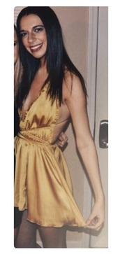 dress,yellow mustard,silk,open back