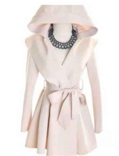 jacket hodded jacket white