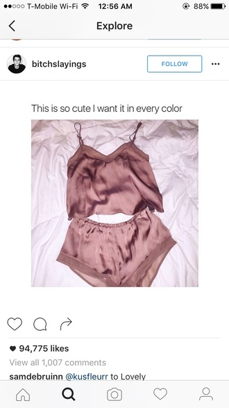 underwear two-piece pink cute cute outfits cute top summer summer outfits summer top summer shorts style scrapbook style top shorts