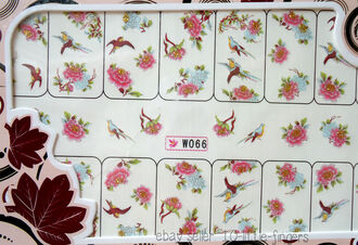 romantic nail accessories decoration nail polish nail decals stickers floral glitter