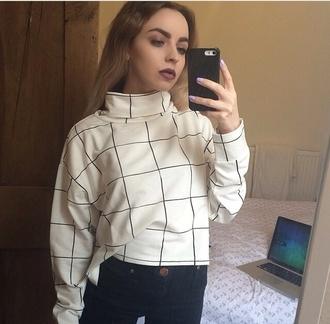 graph shirt lined shirt white and black shirt long sleeves shirt