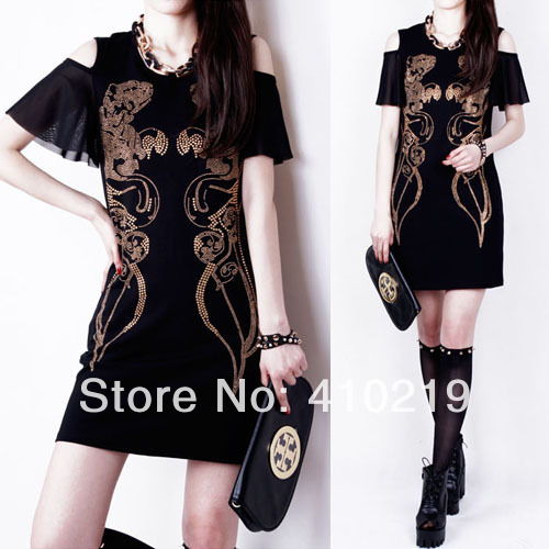 Aliexpress.com : Buy Free shipping,Retail 2014 New Summer Women Ladies Clothing Patchwork Dresses Short Sleeve Dress,women's clothes prom skirt from Reliable clothes made to order suppliers on Angelbaby's store