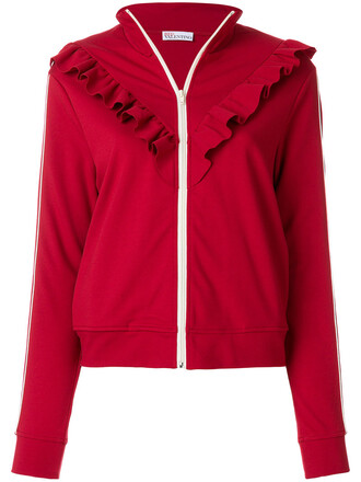 sweatshirt women spandex red sweater