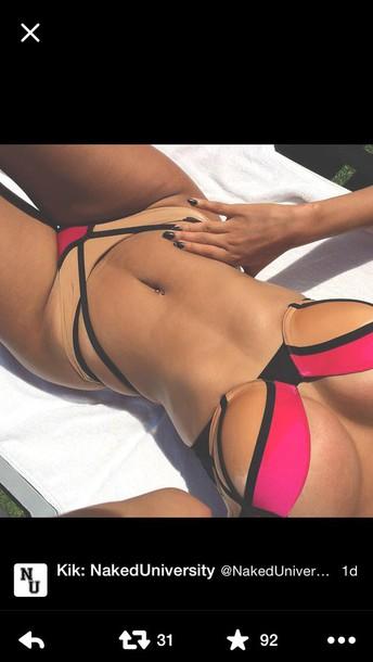 swimwear nude pink