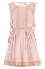 dress,pink dress,pink,lace dress,lace,Valentino,red valentino
