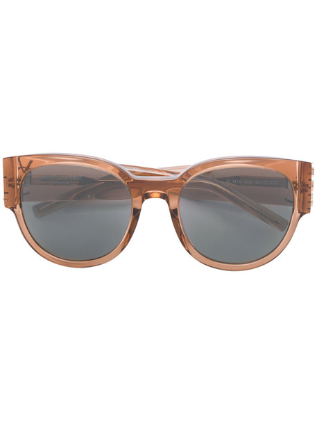 Saint Laurent Eyewear oversized women sunglasses oversized sunglasses brown