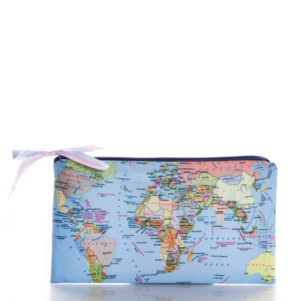 bag travel ziziztime map print world cosmetic bag cosmetic case