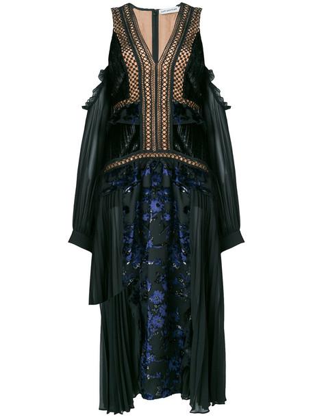 self-portrait dress women cold floral black