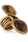 Burnished gold-plated cabochon ring | THE OUTNET