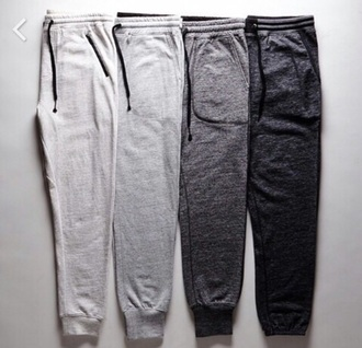 pants sweatpants grey black