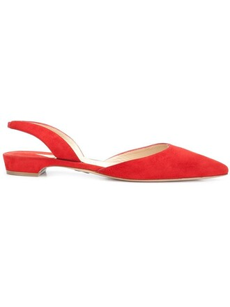 women suede red shoes